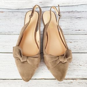 Chase & Chloe Suede Slingback Flats Size 8